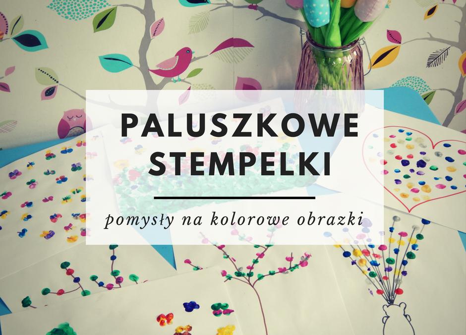 Kolorowe prace plastyczne z paluszkowych stempli