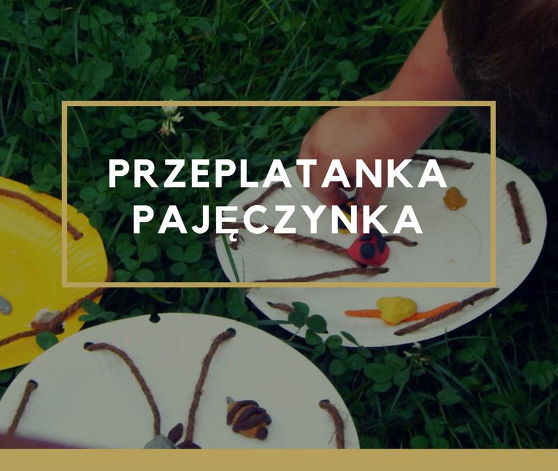 """""""Przeplatanka – pajęczynka"""" zabawa manualna dla dzieci"""