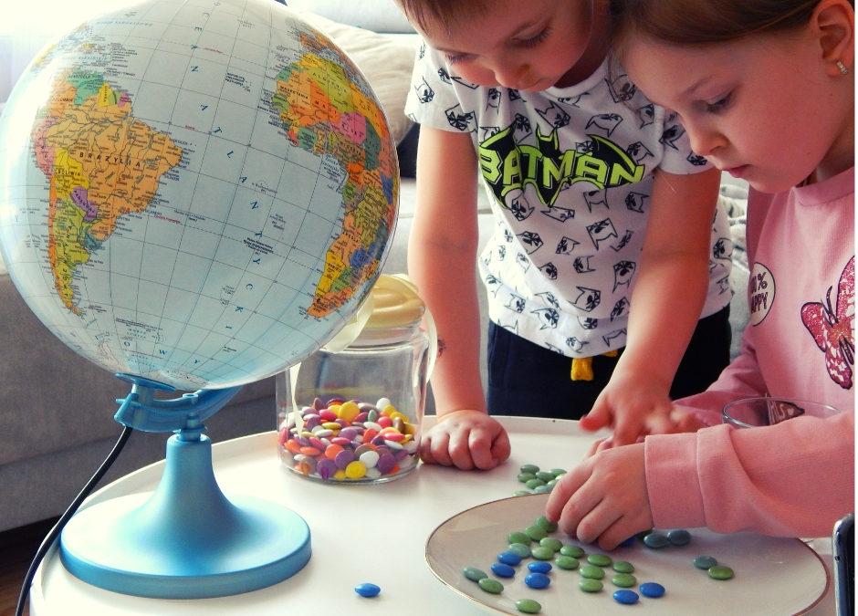 Eksperyment z cukierkami dla dzieci -Ziemia