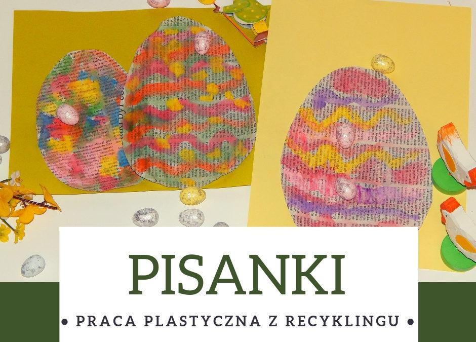 Pisanki- praca plastyczna z recyklingu