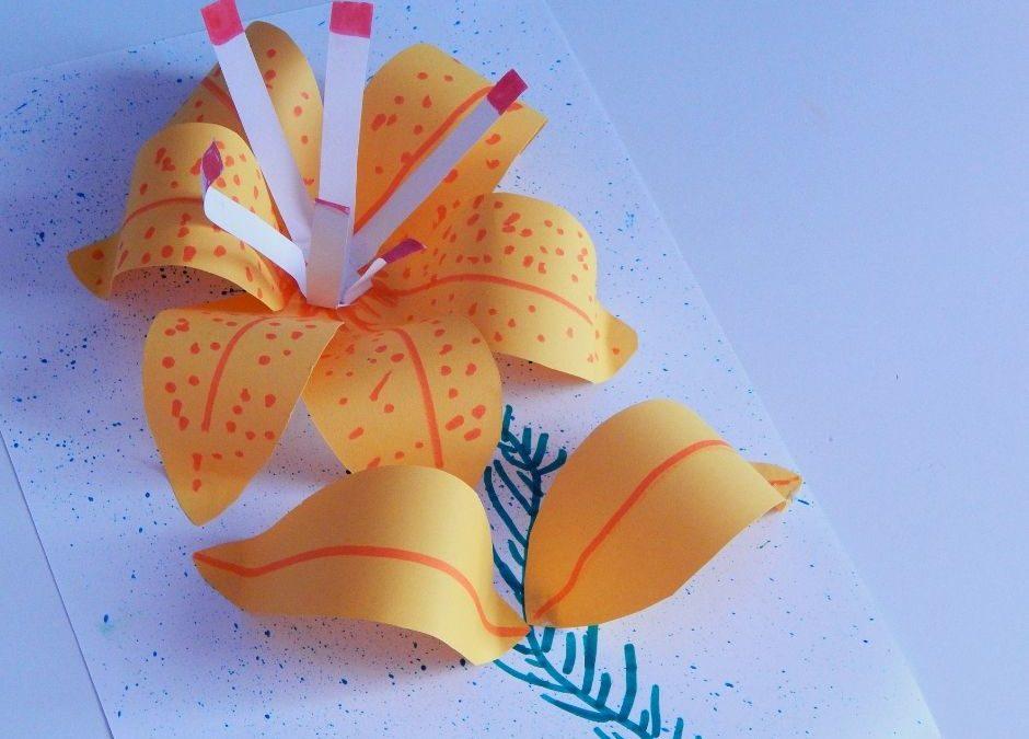 Lilie- praca plastyczna