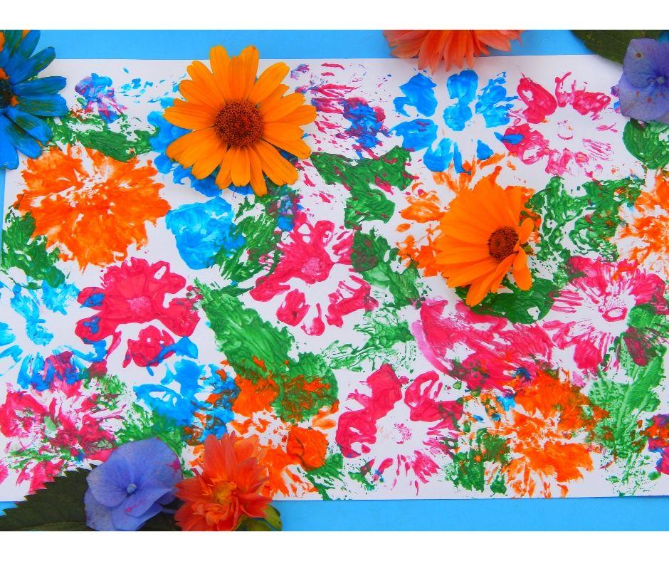 Zamiast pędzla- kwiaty! Pomysł na pracę plastyczną ...