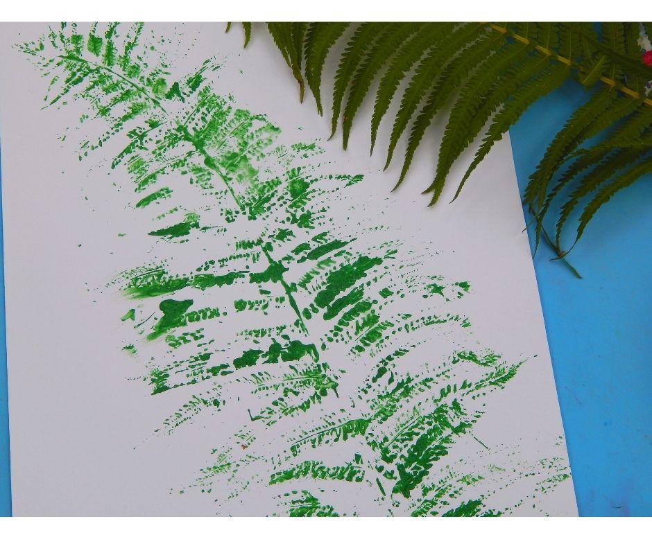 liść paproci praca plastyczna
