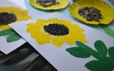 Słoneczniki- pomysły naprace plastyczne