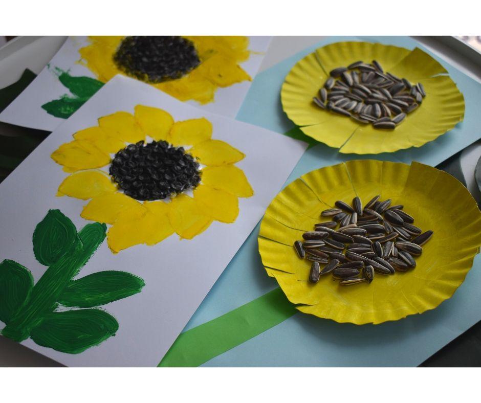 słoneczniki prace plastyczne