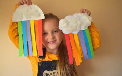 Kolorowy deszcz- praca plastyczna