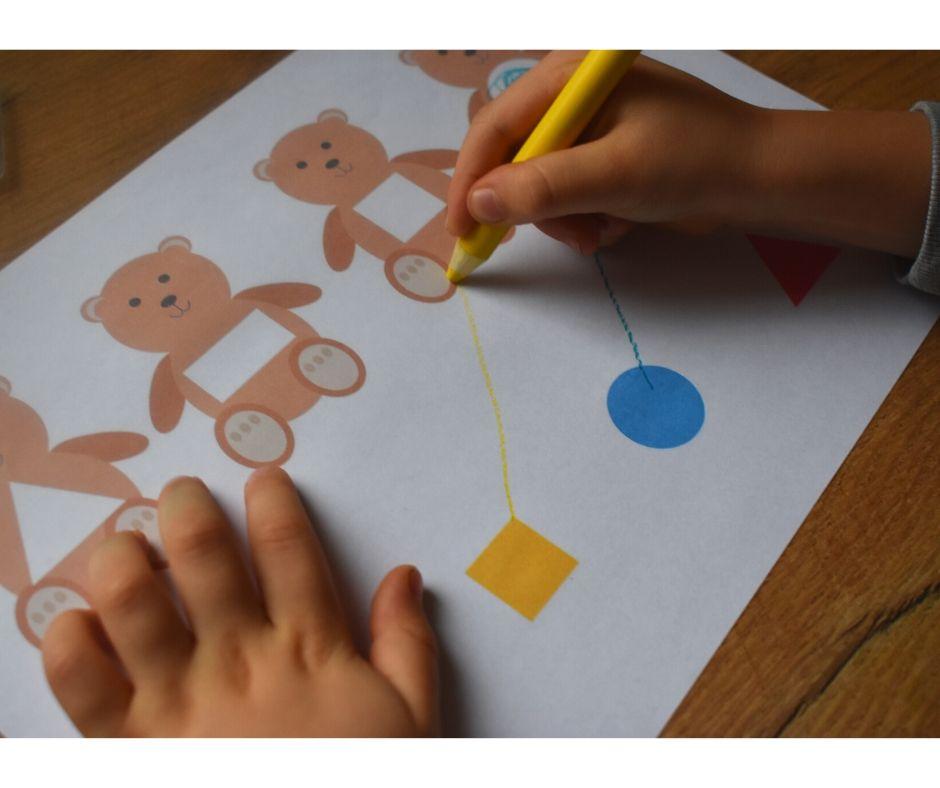 karty pracy figury przedszkole