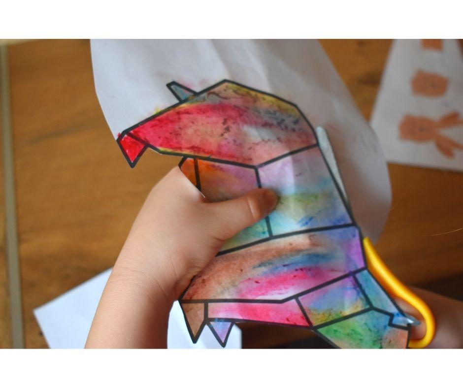 kolorowanki geometryczne zwierzęta