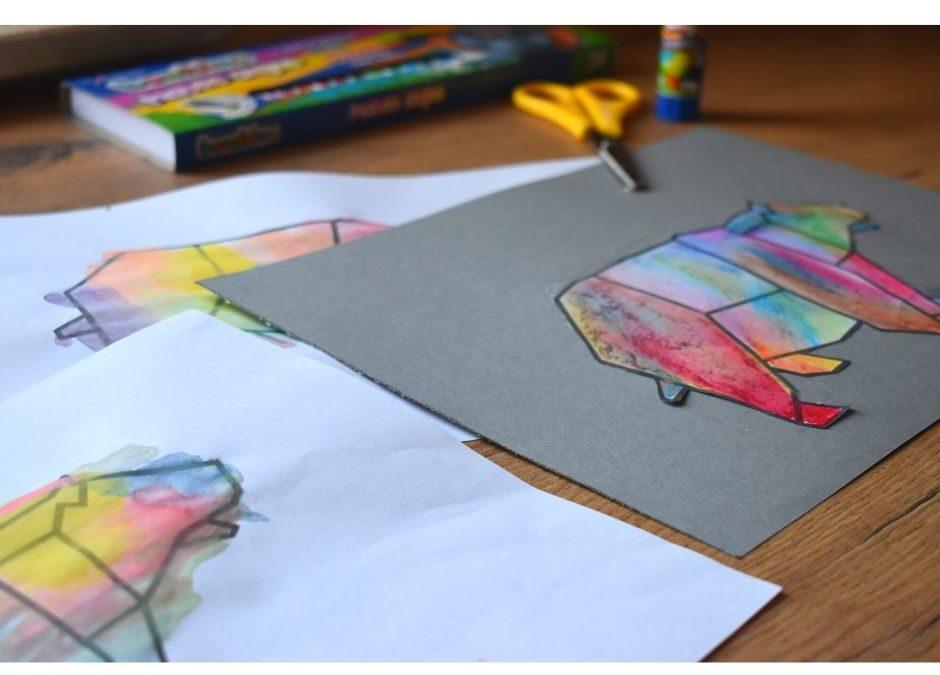 Kolorowanki dodruku- geometryczne zwierzęta