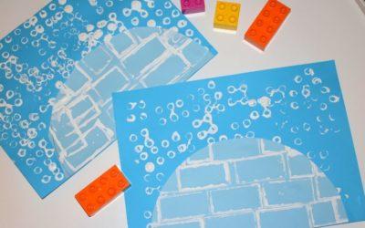 Kreatywne igloo- zimowa praca plastyczna