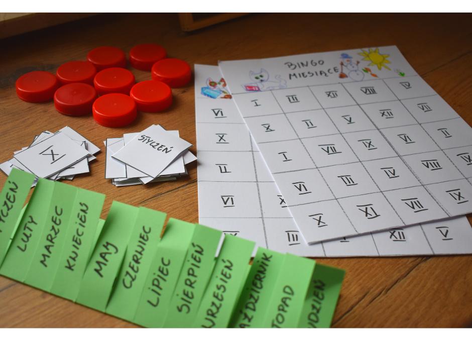 Zabawy matematyczne- nauka miesięcy