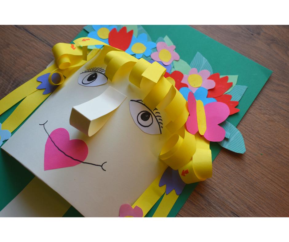 Pani Wiosna- twarz 3D
