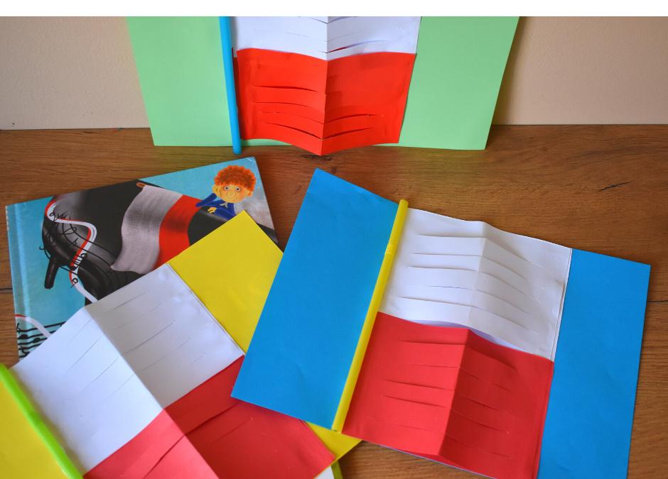 Flaga Polski- praca plastyczna