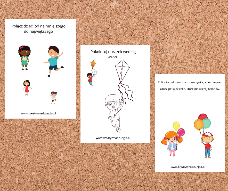 karty pracy dzieci