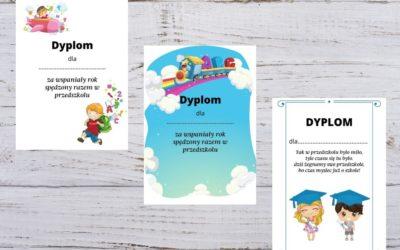 Dyplomy zakończenie roku szkolnego (przedszkole, zdalna edukacja)
