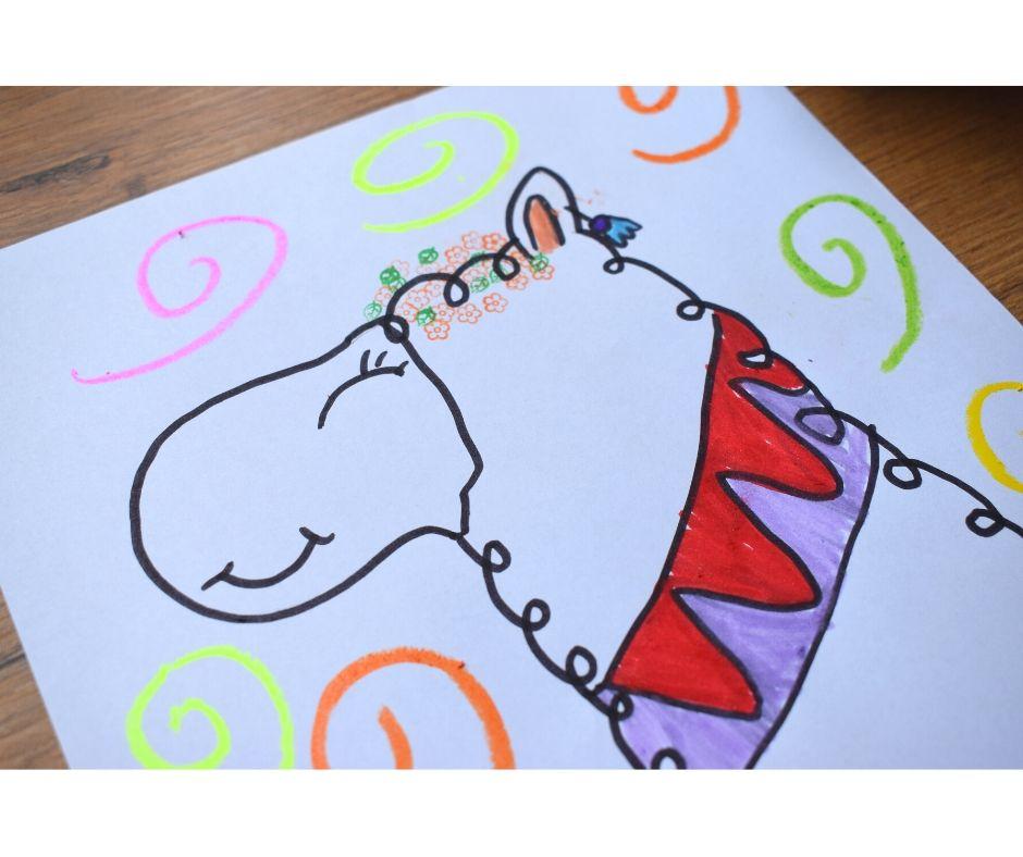 lama alpaka praca plastyczna jak narysować