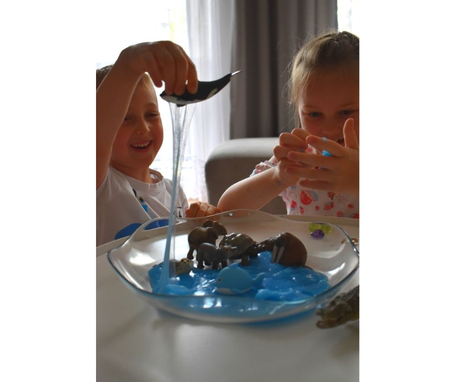 slime diy morze ocean zabawa dla dzieci
