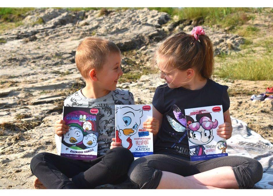 książki dla dzieci na wakacje opowieść komiksowa