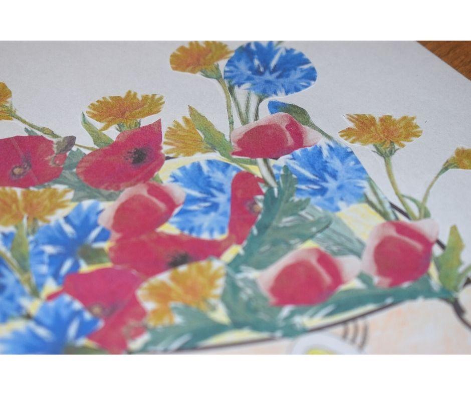 polne kwiaty nałące praca plastyczna fryzura