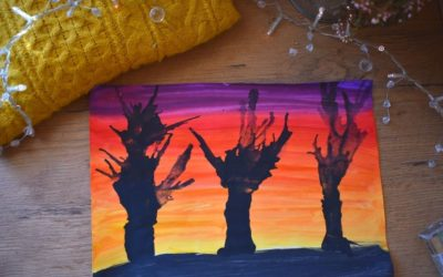 Jesienne drzewa- kreatywna praca plastyczna