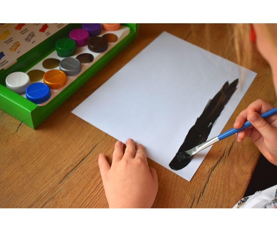 malowanie farbami pomysły dla dzieci