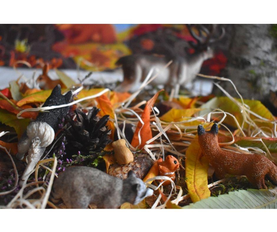jesień zabawy zajęcia sensoryczne