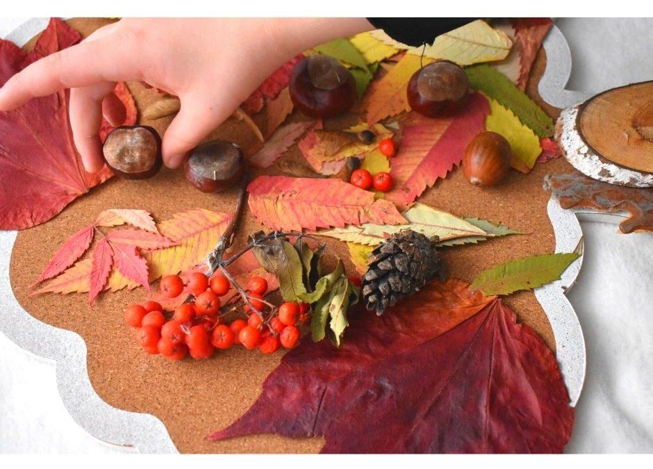 jesienne zabawy sensoryczne doświadczenia liście