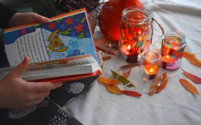 Jesienny lampion zesłoika-proste DIY dla dzieci
