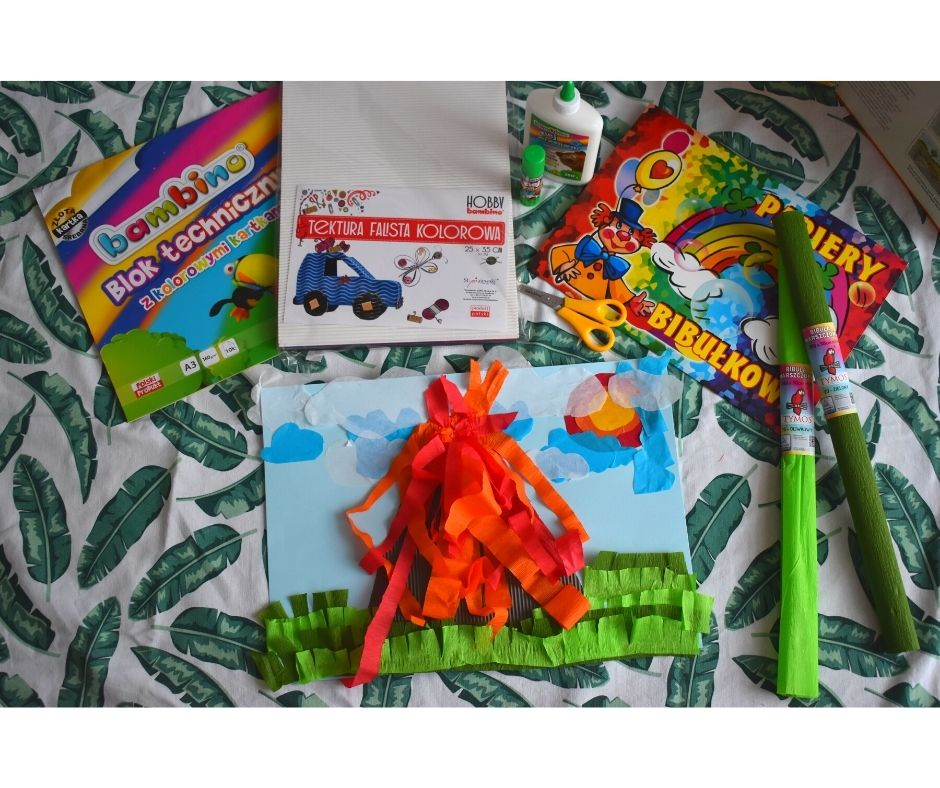 wulkan dinozaury prace plastyczne dla dzieci
