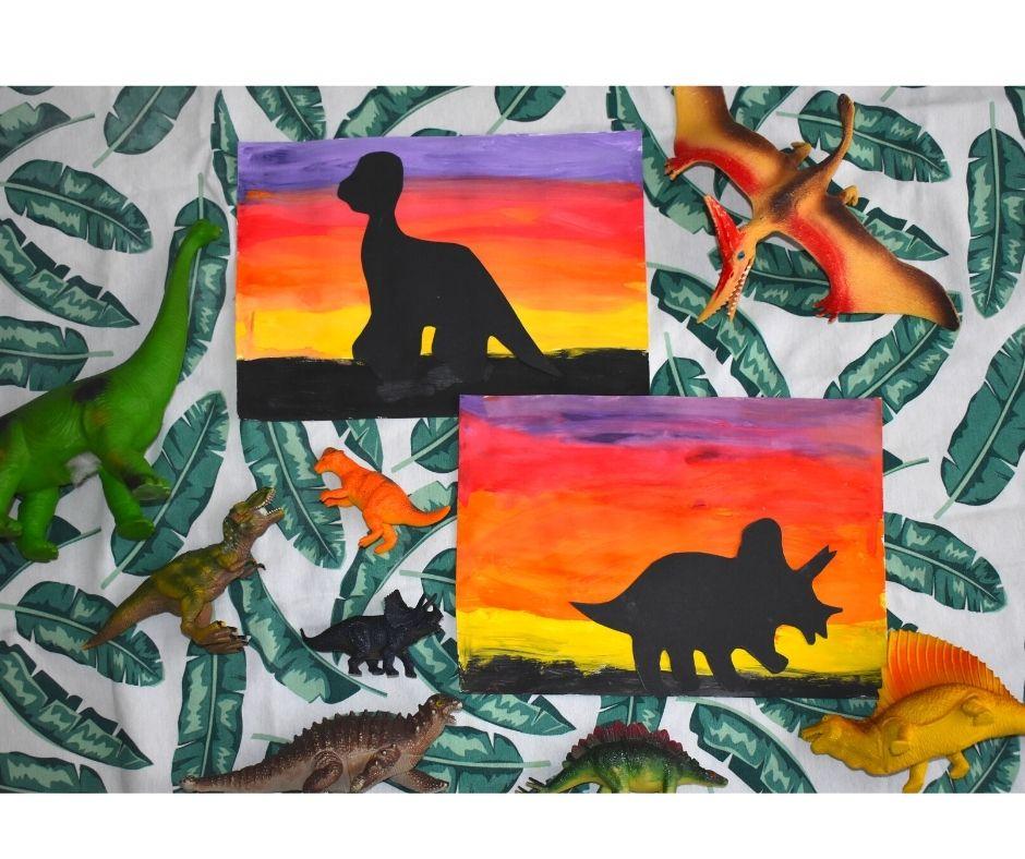 dinozaury prace plastyczne
