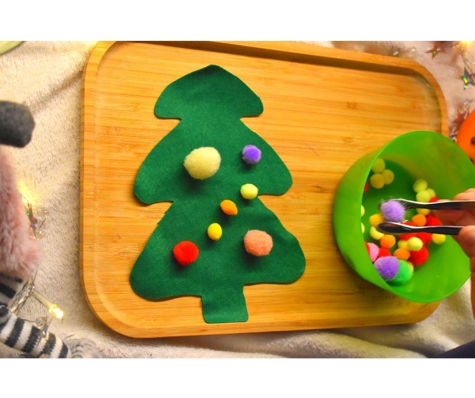 choinka praca plastyczna zabawy dla dzieci