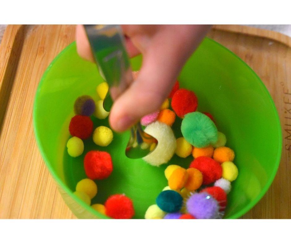 choinka zabawa edukacyjna nauka kolorów przedszkole