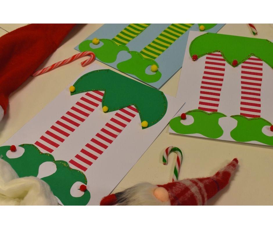elf mikołaj świąteczne prace plastyczne