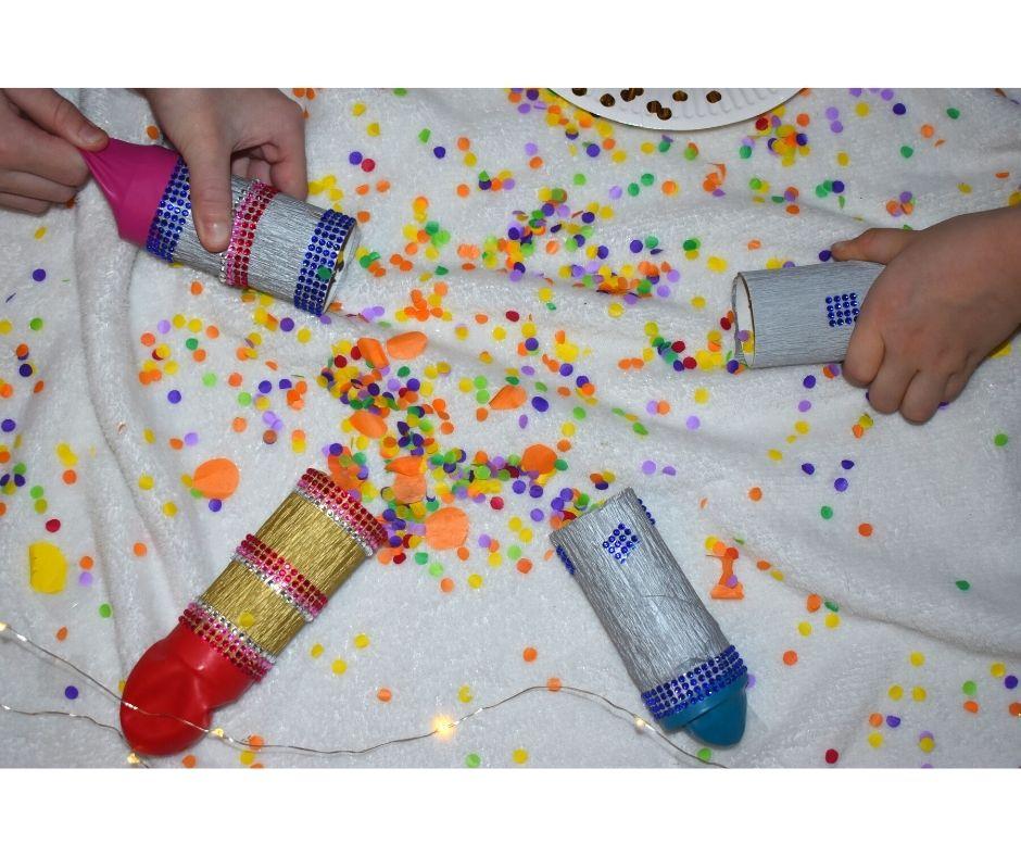 tuba konfetti jak zrobić pomysły nowy rok dla dzieci