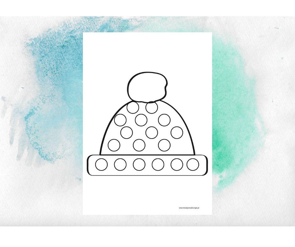 czapka karta pracy zimowe ubrania praca plastyczna