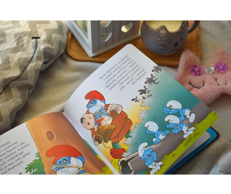 Smerfy bajka książka dla dzieci