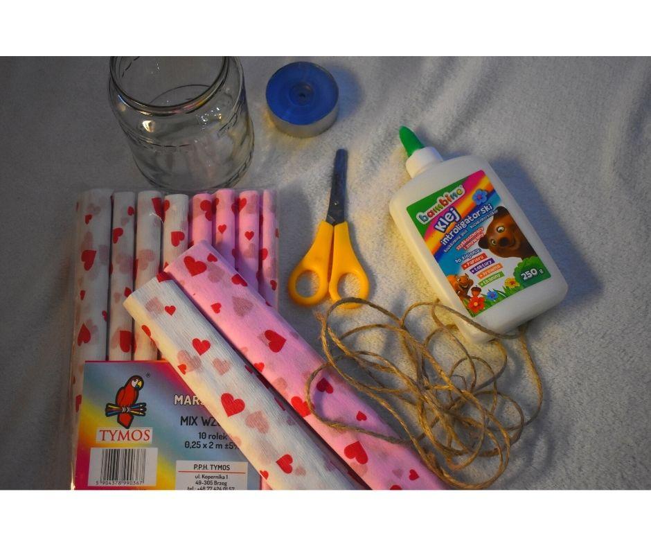 jak zrobić lampion zesłoika, pomysł naprezent przedszkole dzień babci dzień mamyy