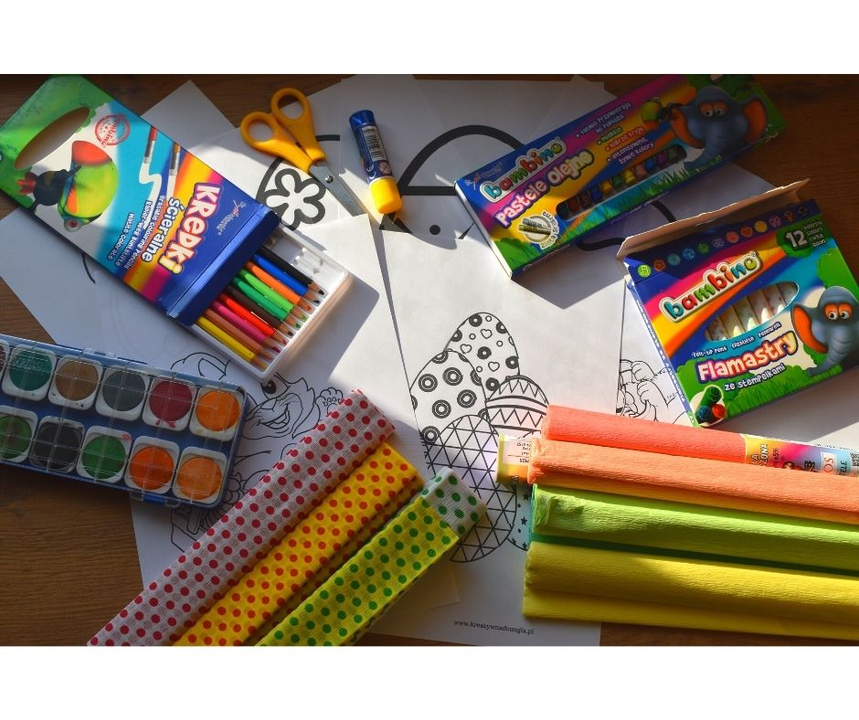 wielkanoc kolorowankiszablony prace plastyczne dla dzieci przedszkole