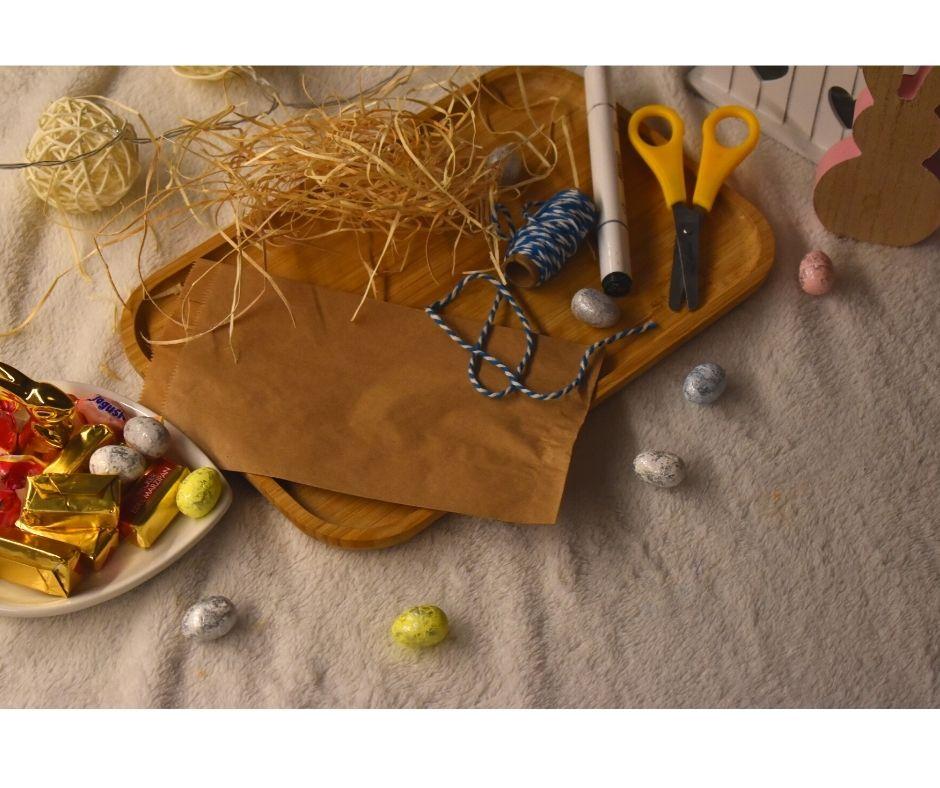zajączek zpapieru, zając diy Wielkanoc, prezenty zajączek dla dzieci