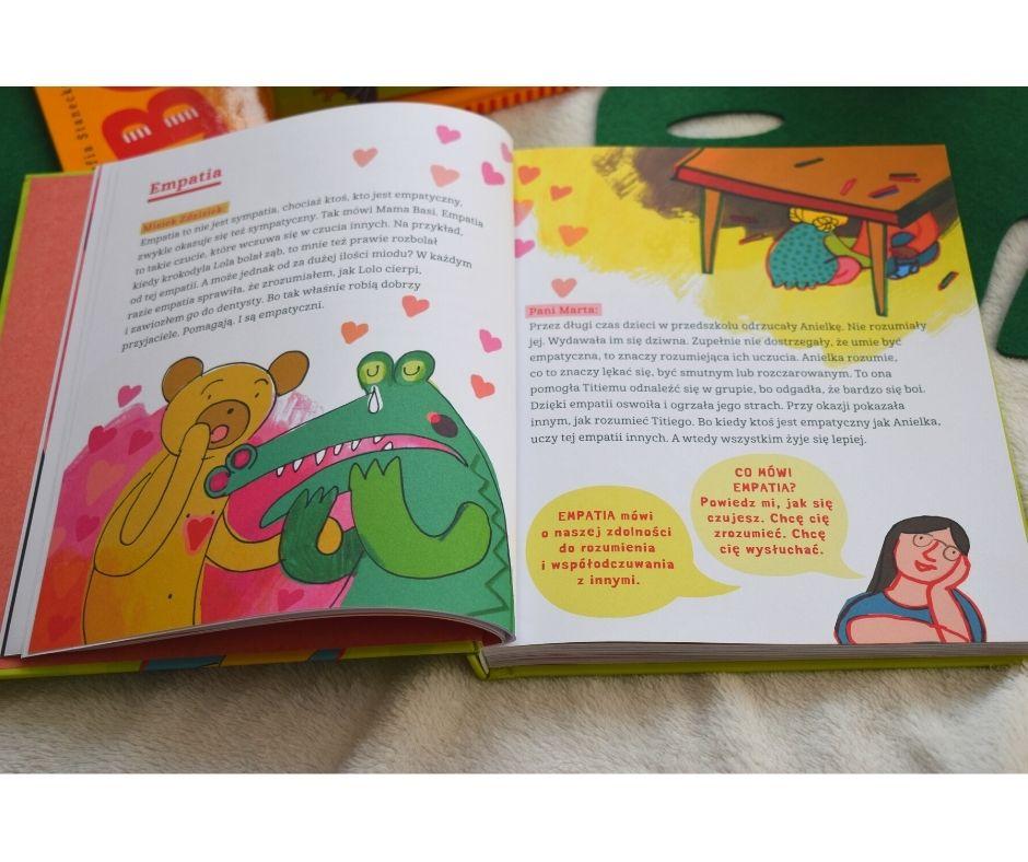 basia wielka księga ouczuciach, książki ouczuciach dziecko, emocje przedszkole