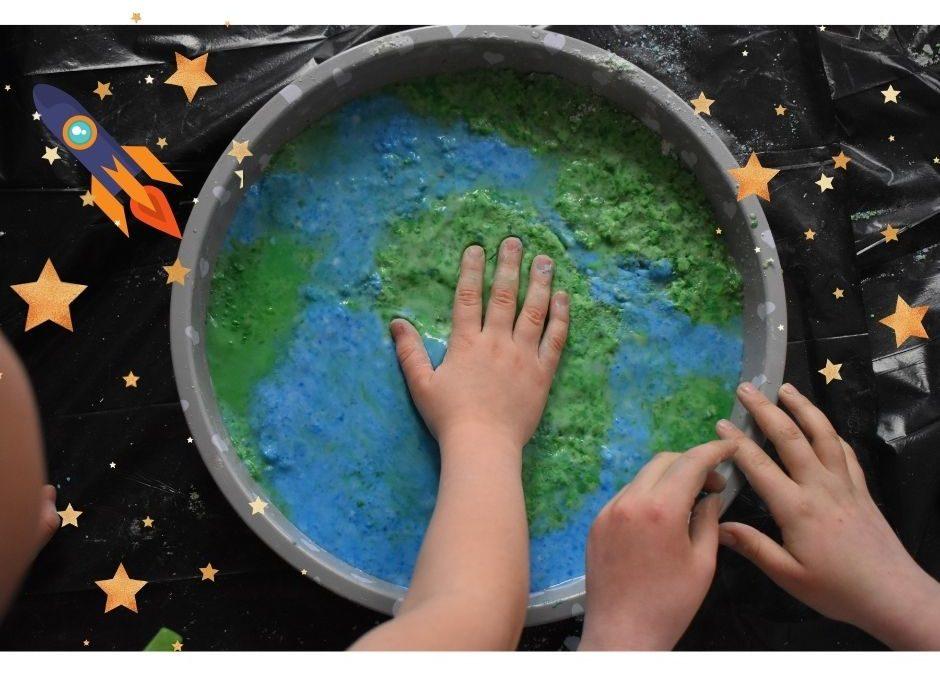 Ziemia iinne planety- eksperyment, zabawa sensoryczna