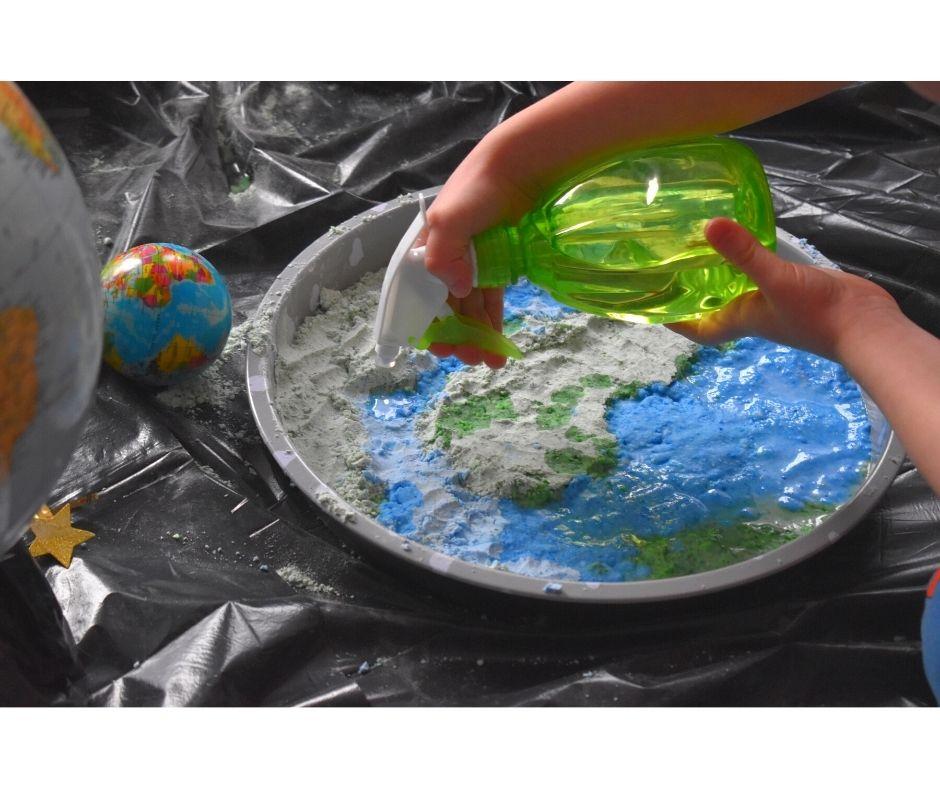 ziemia zabawy, planeta ziemia pomysły dla dzieci, dzień ziemi