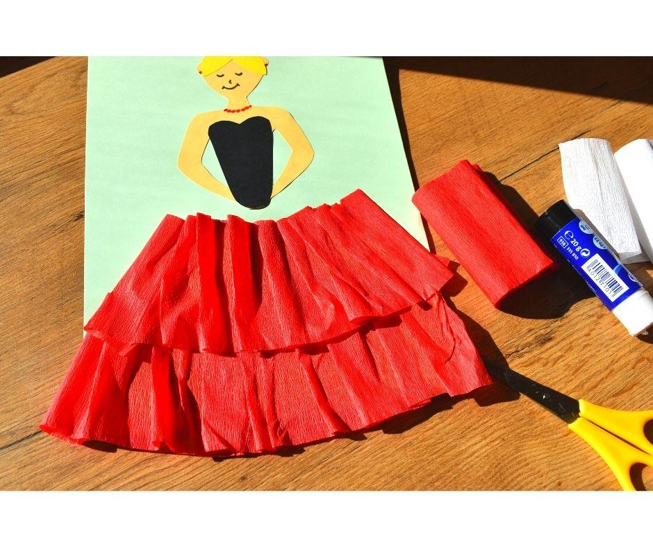 polska patriotyczna praca plastyczna, strój ludowy praca plastyczna szablon