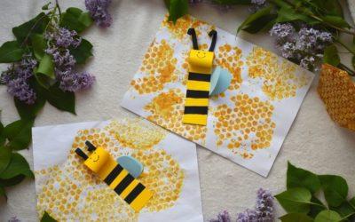 Pszczoła zpapieru- kreatywna praca plastyczna