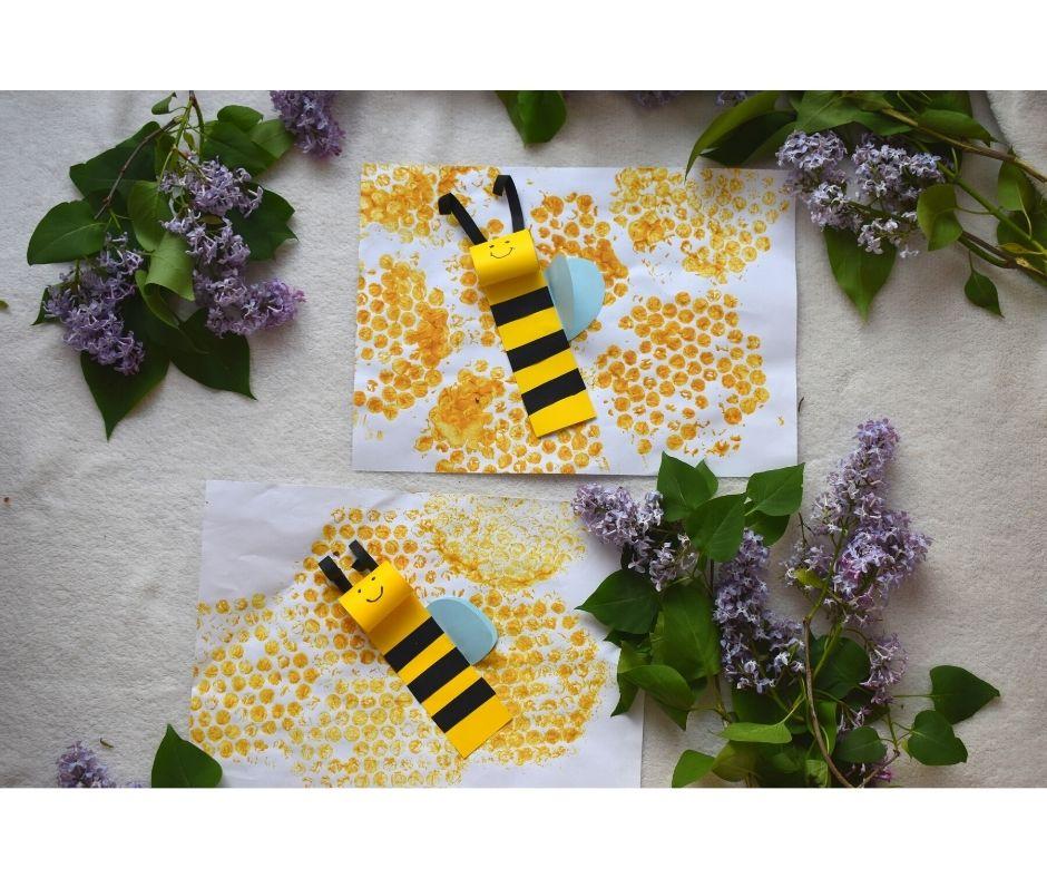 pszczoła praca plastyczna, pszczółka przedszkole pomysły, dzień pszczół pomysły dla dzieci