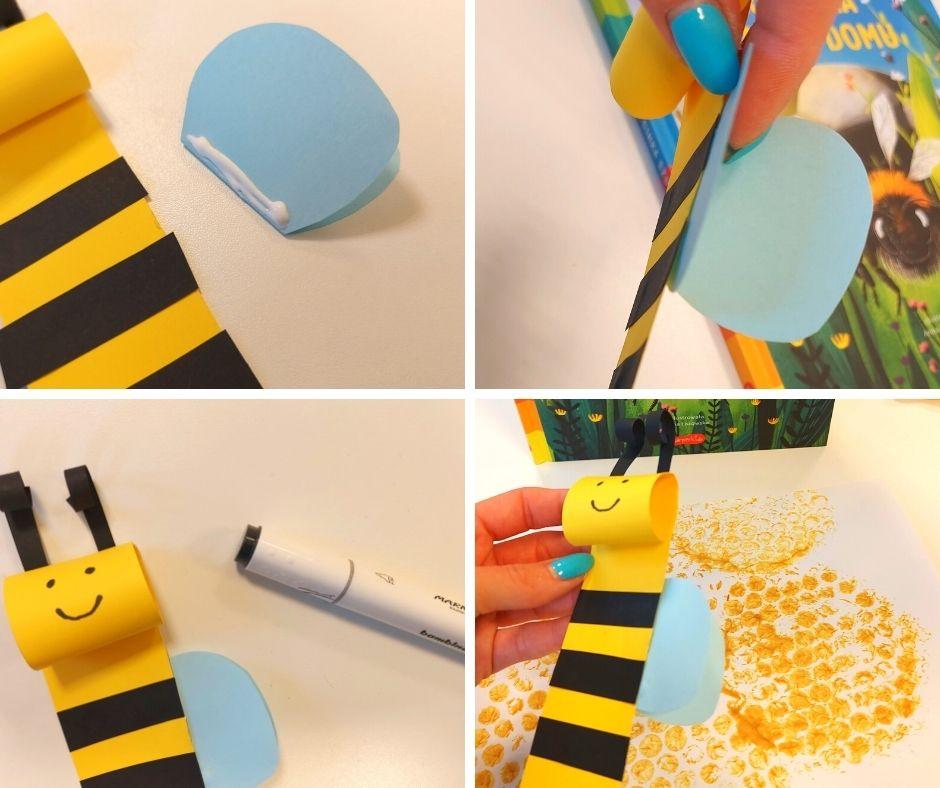 pszczoła pszczółka praca plastyczna dzień pszczół
