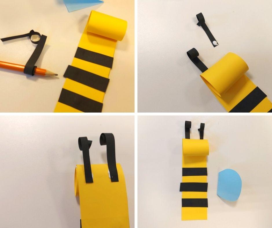 pszczoła zpapieru pszczółka praca plastyczna wiosna