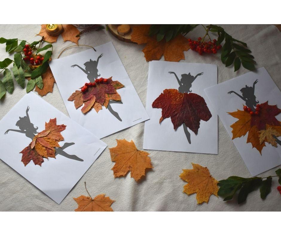 pani jesień praca plastyczna, jesień przedszkole praca plastyczna, jesienne prace plastyczne pomysły, baletnica szablon dodruku